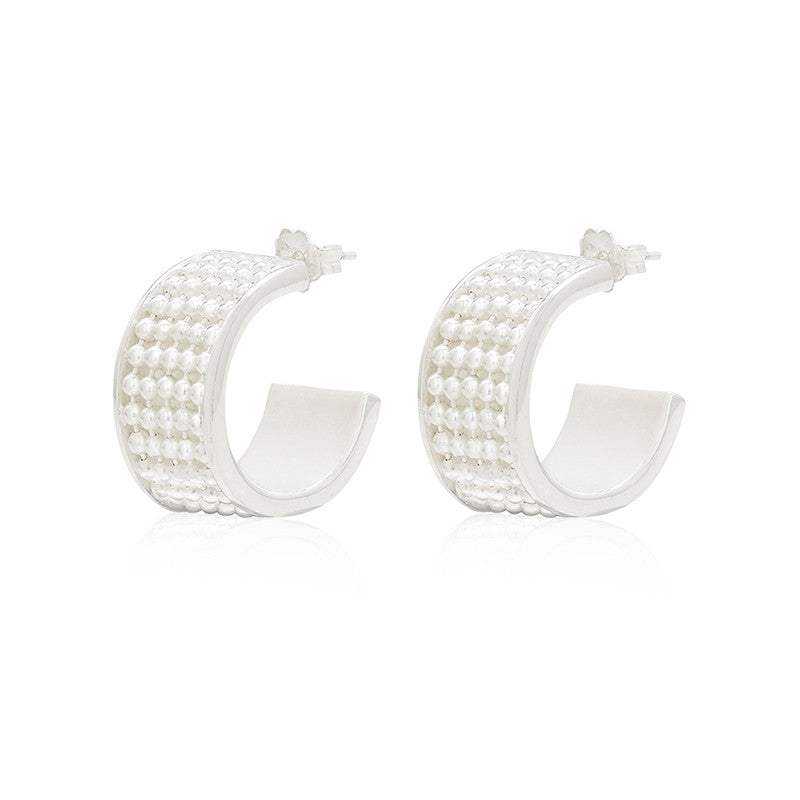 Signature Silver Earring (wide)