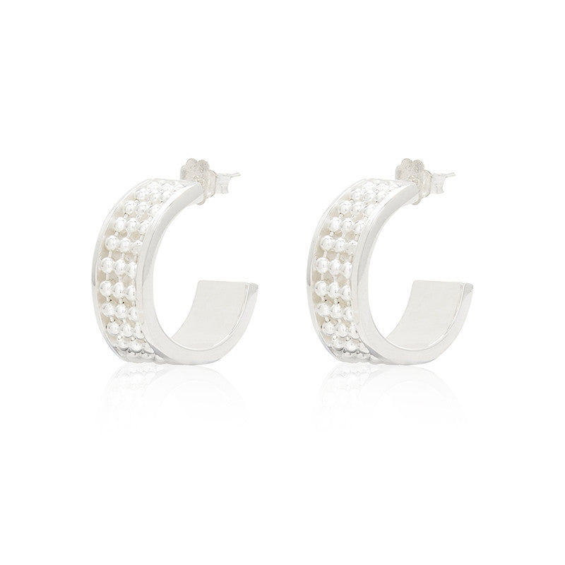 Signature Silver Earring