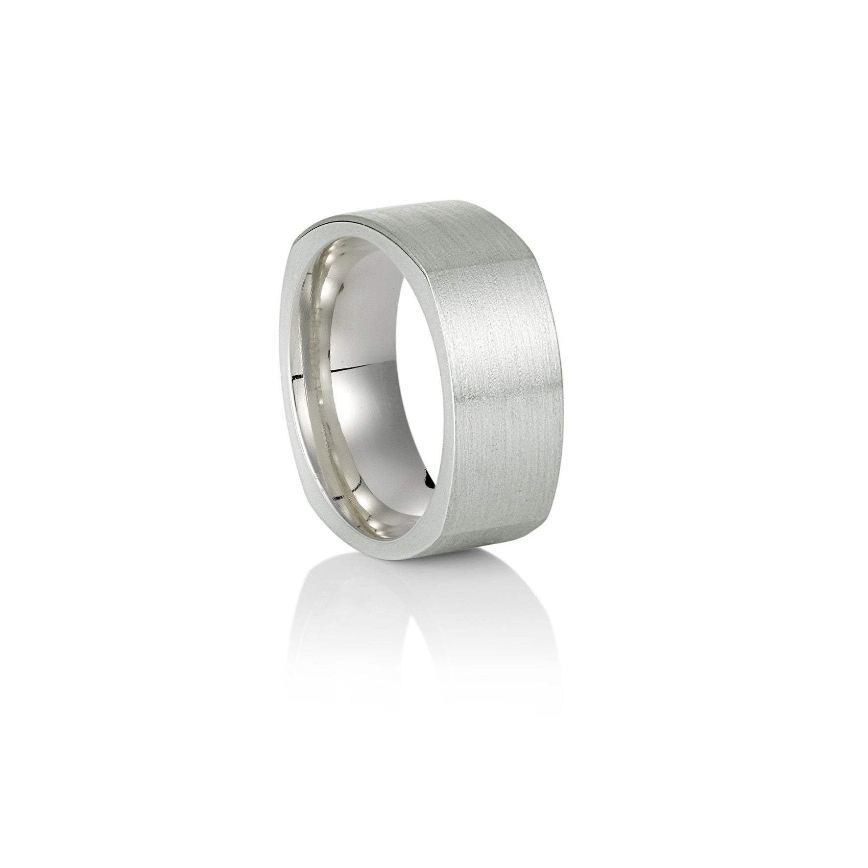Squared White Gold Ring