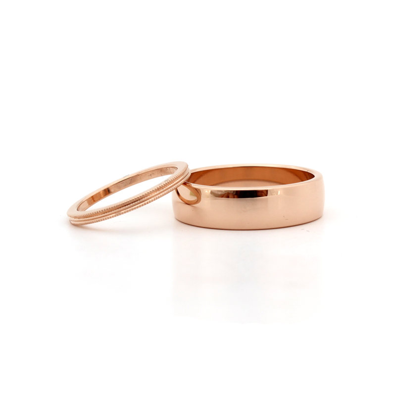 His and hers rose gold wedding rings