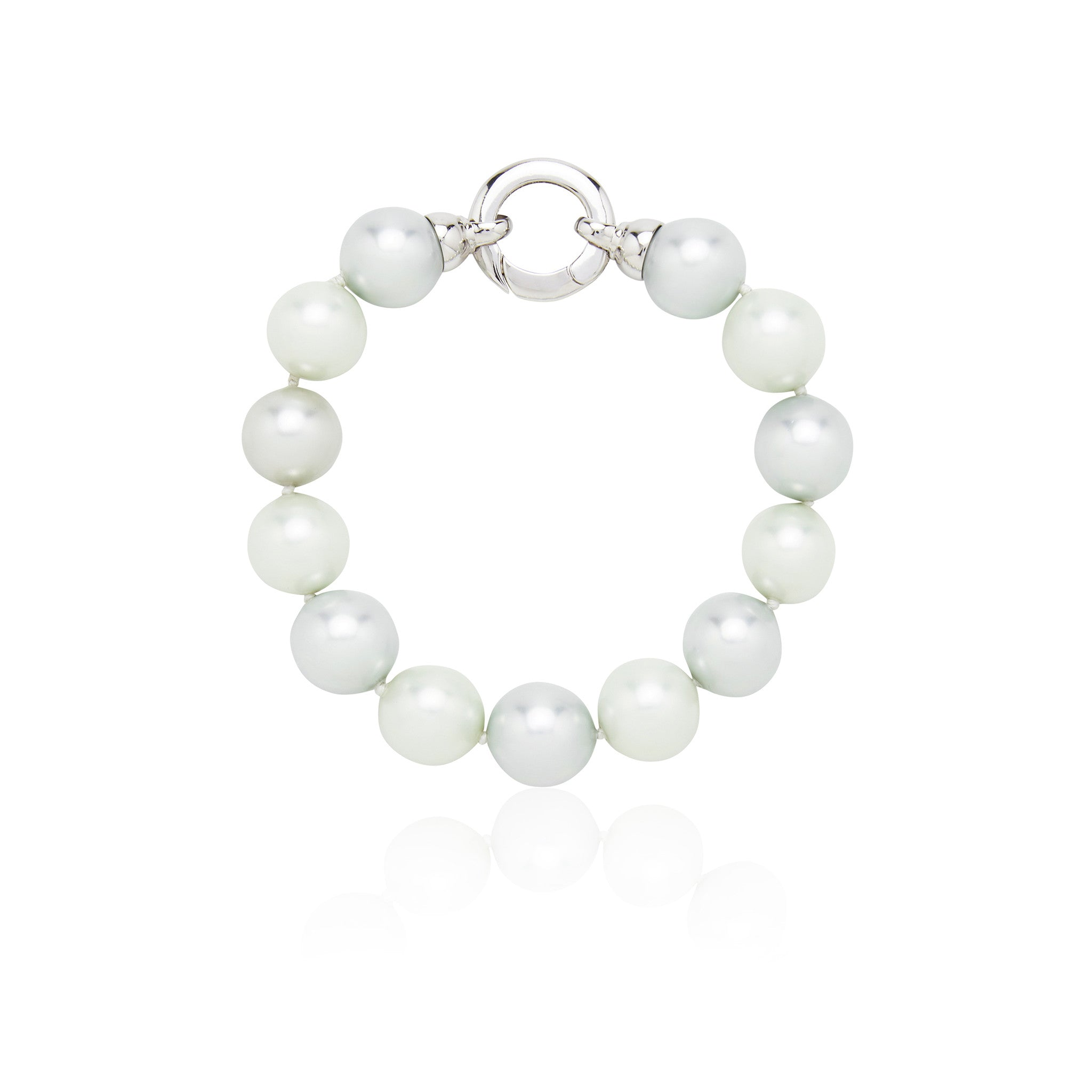 Pastel Blue and Green Pearl Bracelet