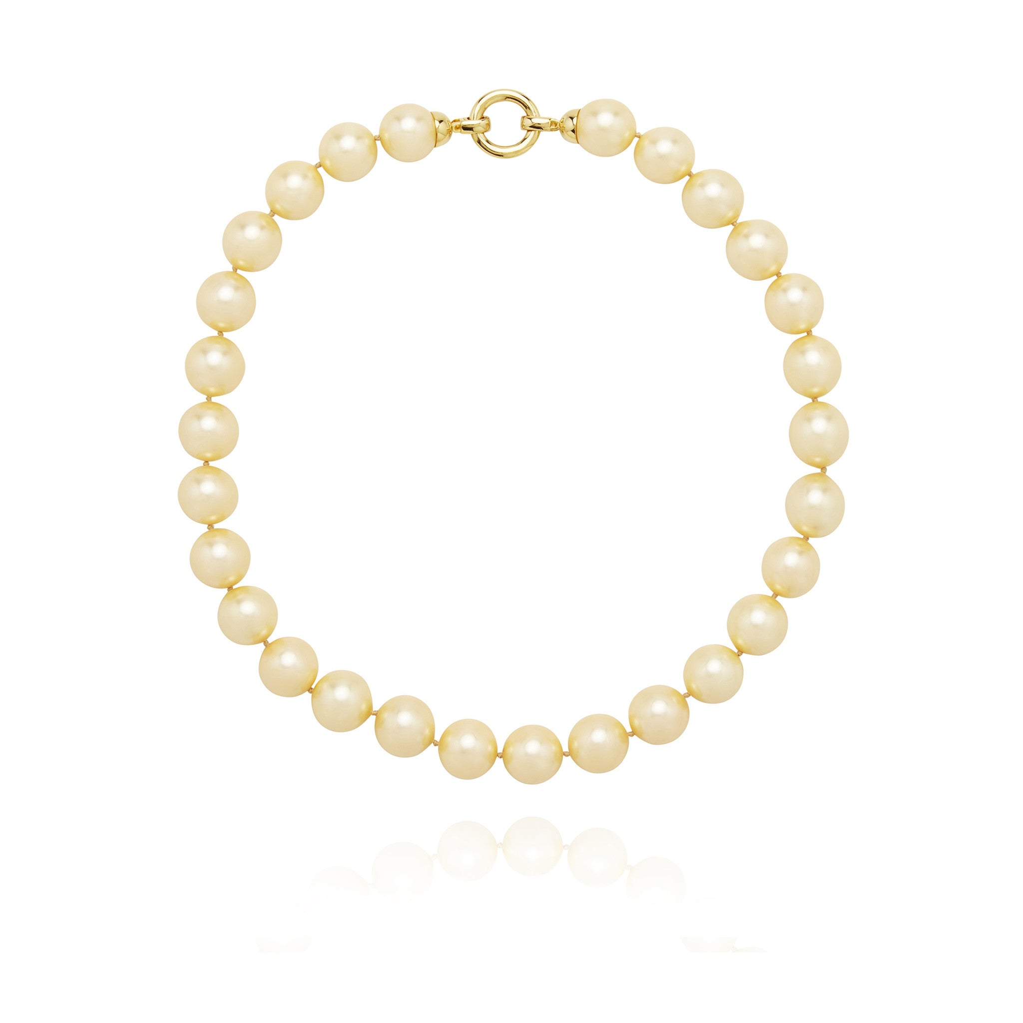Pastel Yellow Gold Pearl Necklace