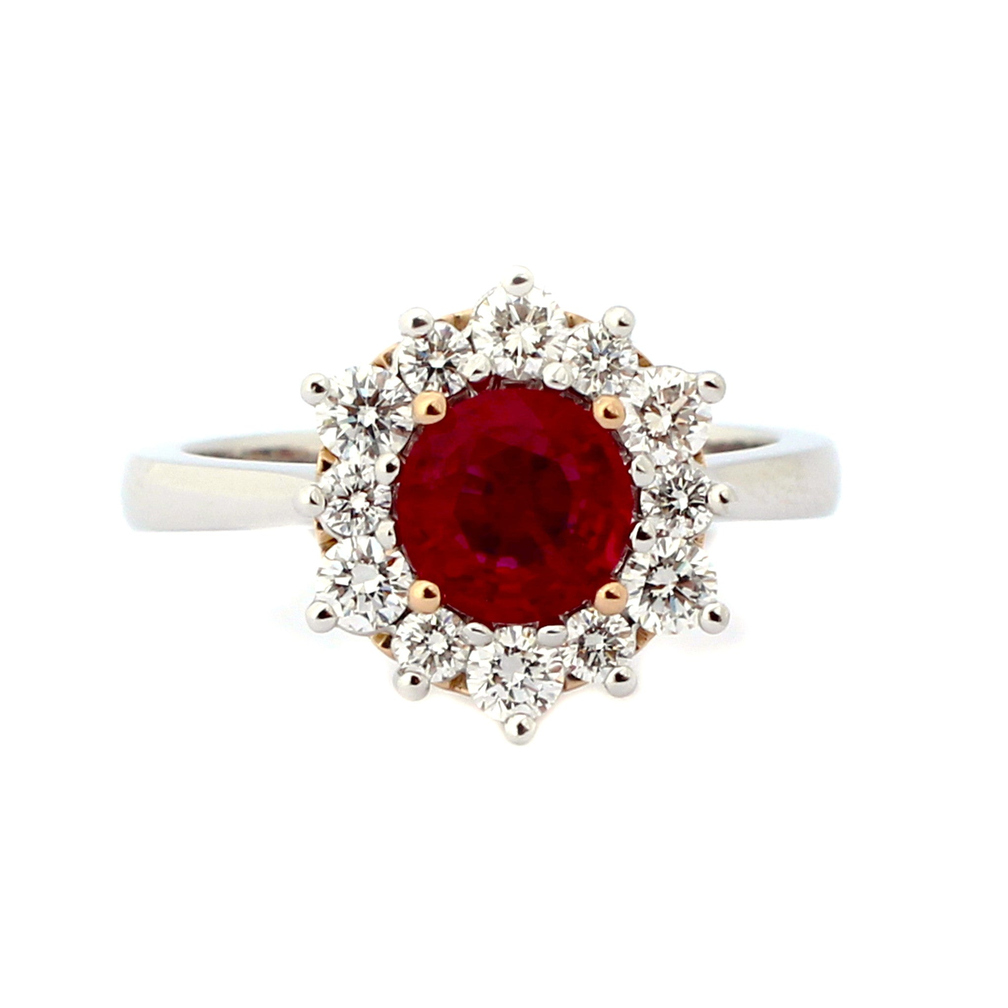 Vibrant Ruby Engagement Ring