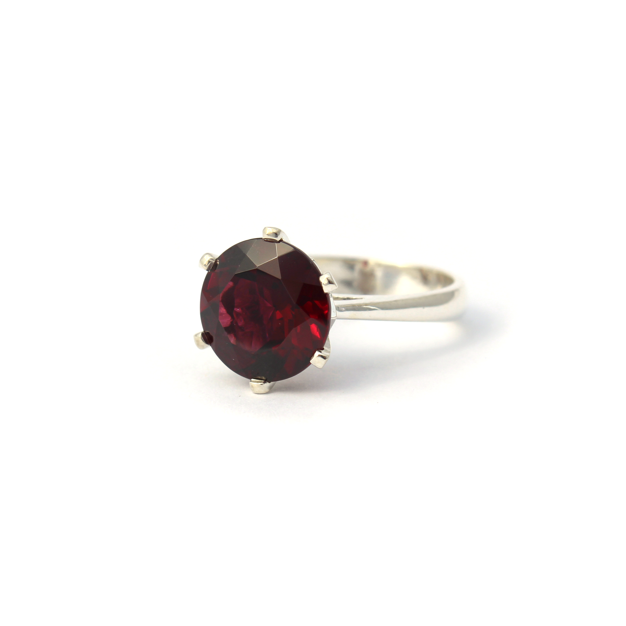 Enchanted Crown Ring Silver and Rhodolite Garnet