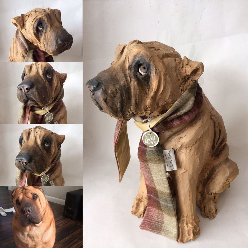 Commission a Full Body Dog Sculpture
