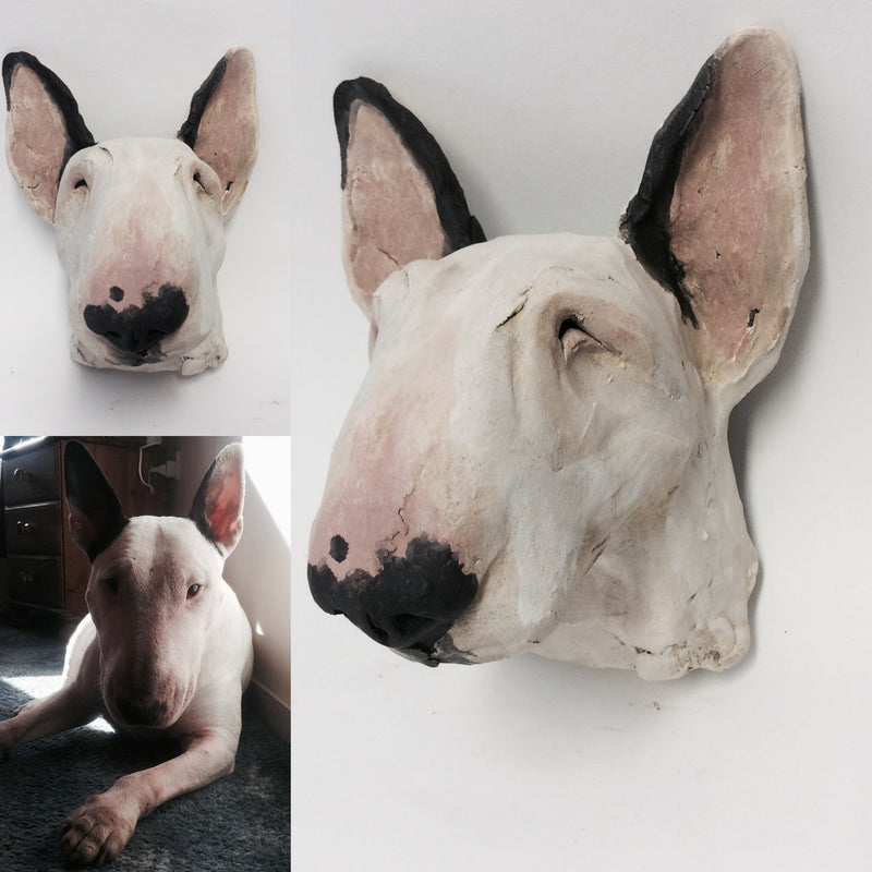 Commission a Dog Head Sculpture