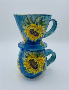 End of Summer Sunflower - A Painted Daniels Mug