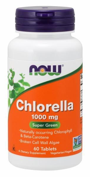Now Foods - Suplemento Alimenticio a Base de Chlorella 1000mg - 60 Tabletas