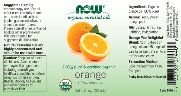 Now Foods - Aceite de Naranja Orgánico 30ml