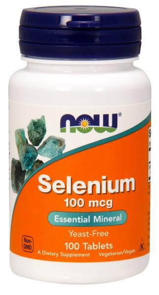 Now Foods - Suplemento de Selenio 100mcg - 100 Tabletas
