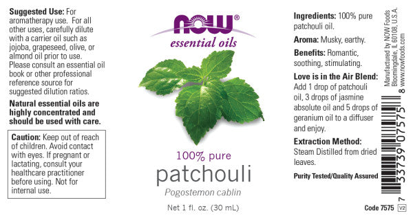 Now Foods - Aceite de Pachuli 30ml