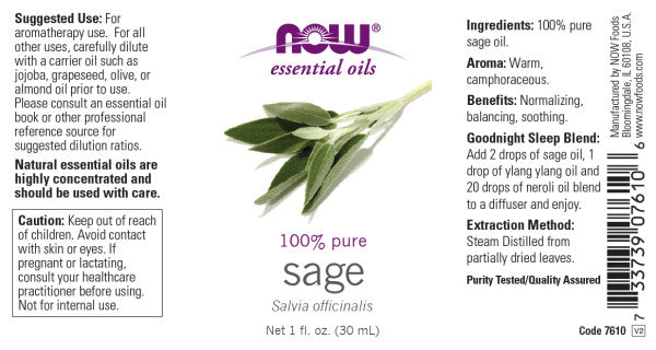 Now Foods - Aceite Esencial de Salvia 30ml