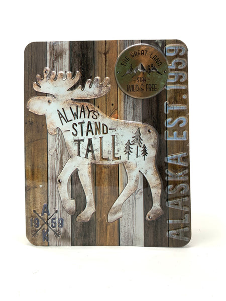 Stand Tall Moose Magnet
