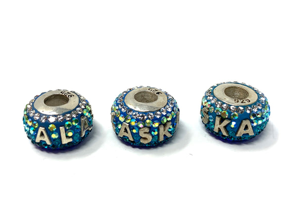 Alaska Beads Sterling Silver Crystal Bead