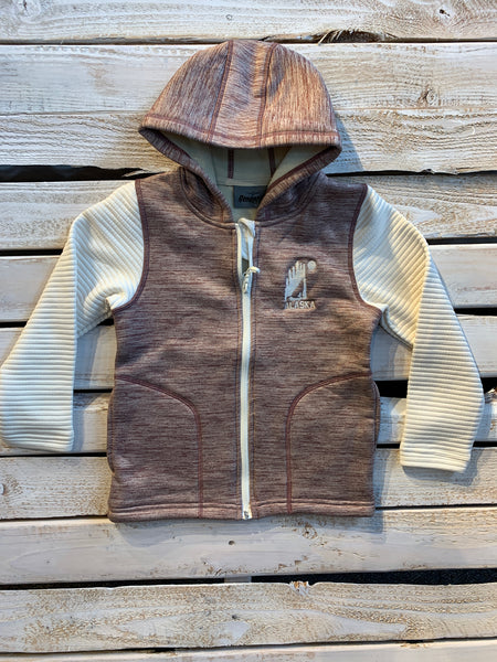Maroon Power Stretch Kids Hoodie
