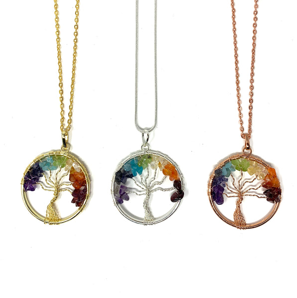 Small Chakra Tree Necklace