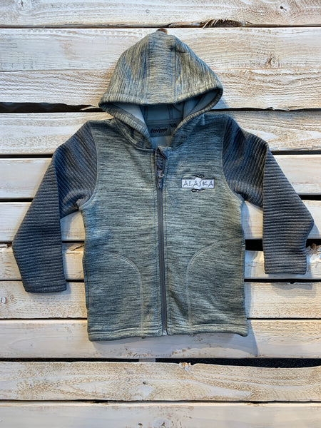 Grey Power Stretch Kids Hoodie