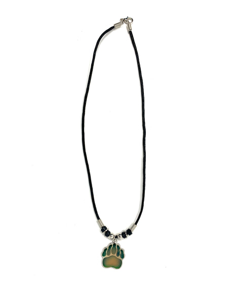 Mood Bear Paw Black Cord Necklace