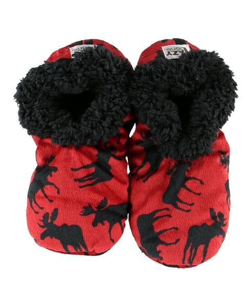 Classic Moose Fuzzy Feet Slippers