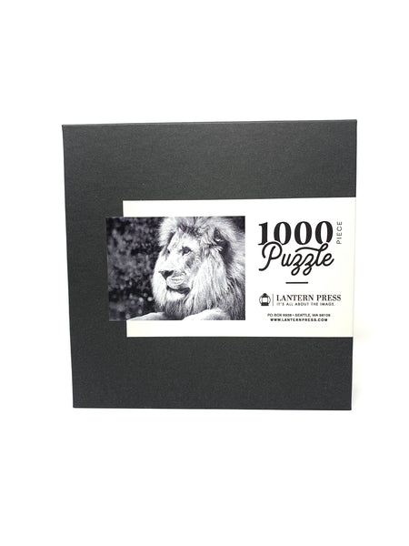 Black/White Lion Jigsaw Puzzle