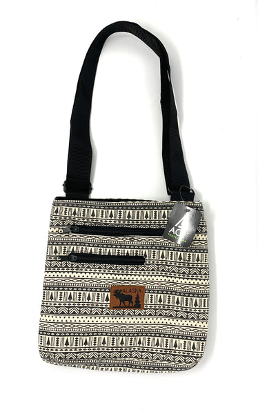 Black-White Pattern Cross Body Bag