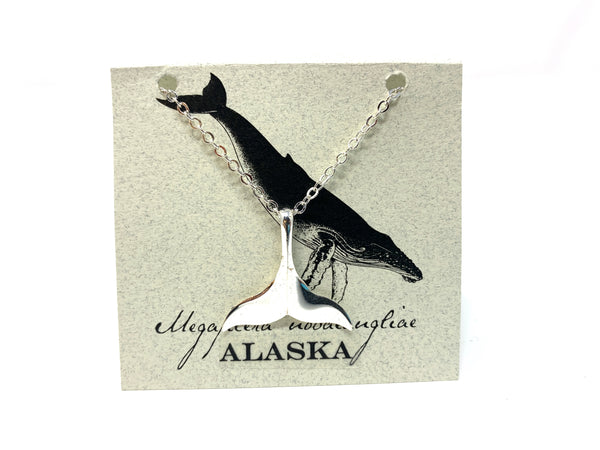Natural History Silver Whale Tail Necklace