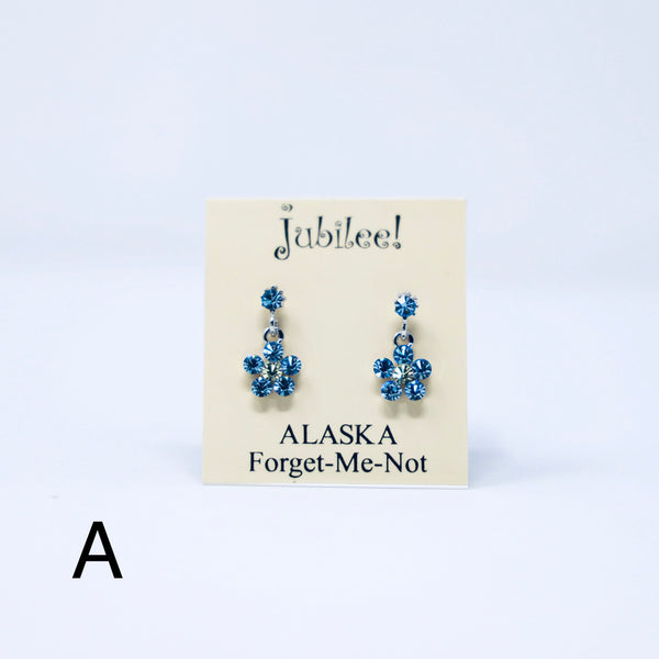 Crystal Forget-Me-Not Earrings