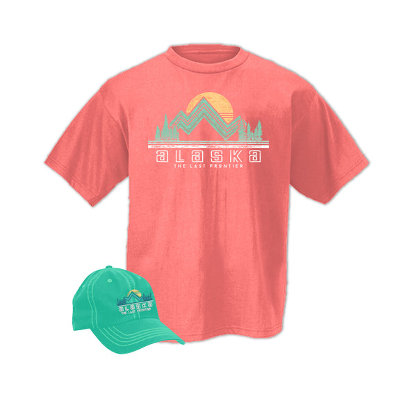 Sea Foam Hat & Coral Shirt Combo