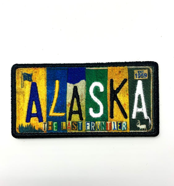 Vintage AK License Plate Patch