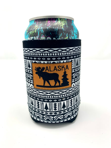 Black/White Moose Koozie