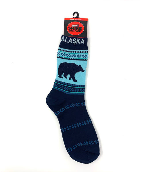 Navy Bear Socks