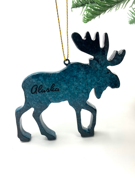 Speckle Moose Ornament