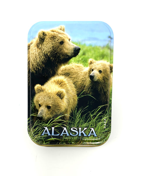 Grizzly Family Playing Cards
