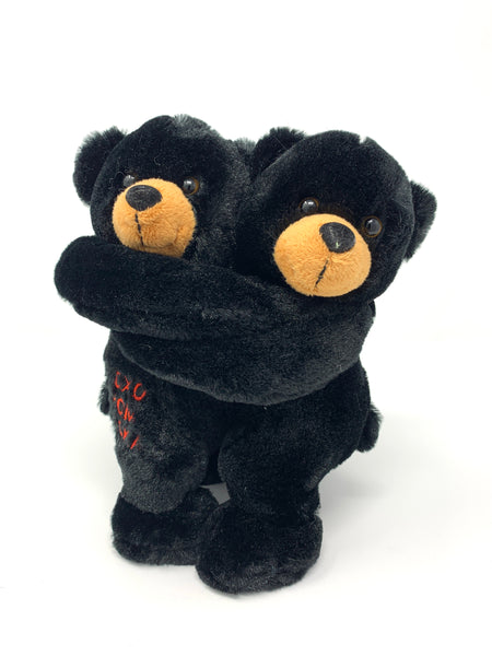 "10"" Hugging Black Bears"