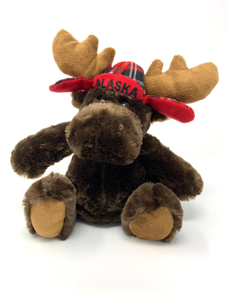 "7"" Moose with Plaid Hat"