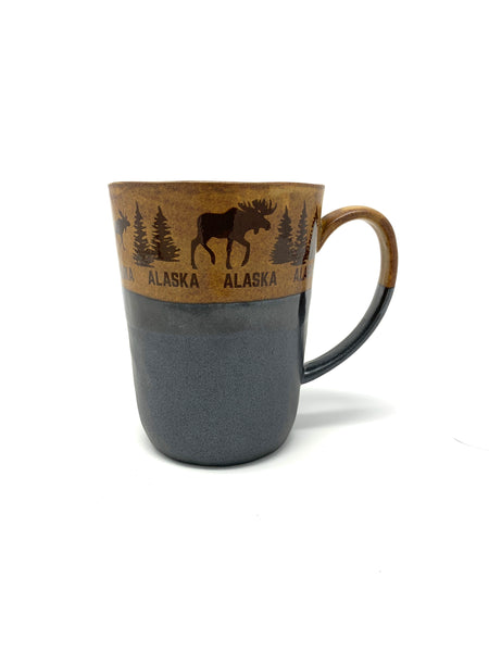 9oz Rustic Moose Mug
