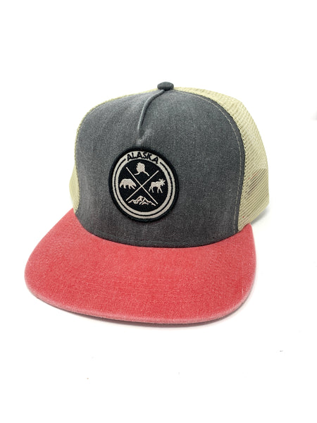 4 Icons Flat Bill Hat