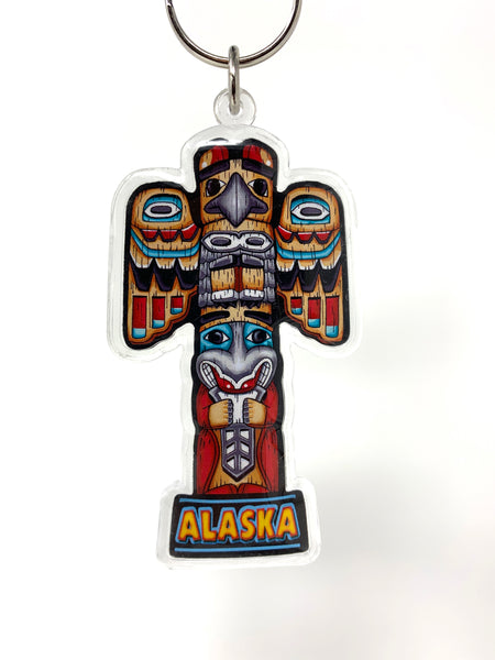 Totem Pole Lucite Keychain