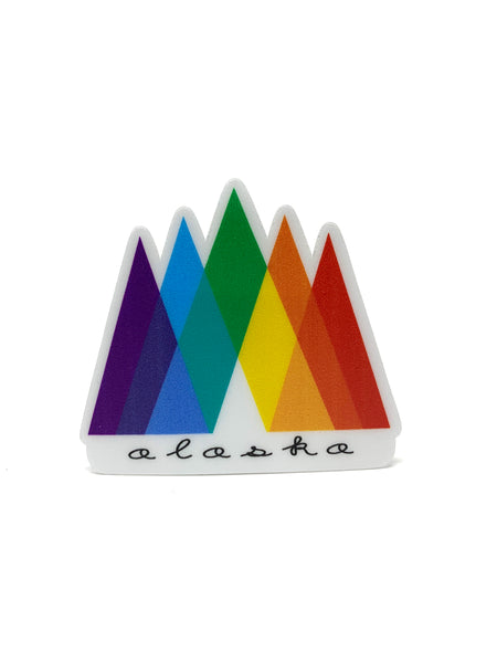 Rainbow Mountains Mini Sticker