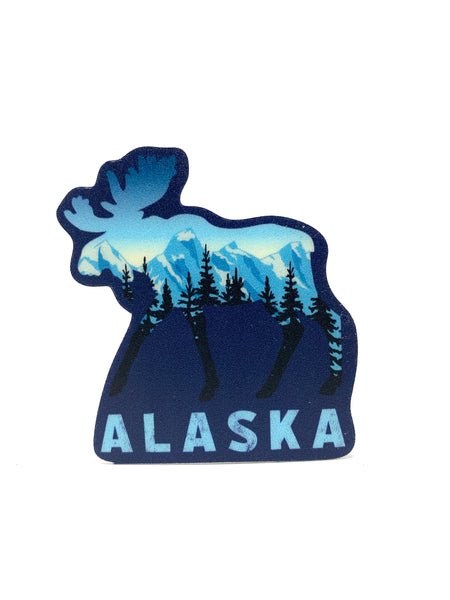 Hemlock Moose Mini Sticker