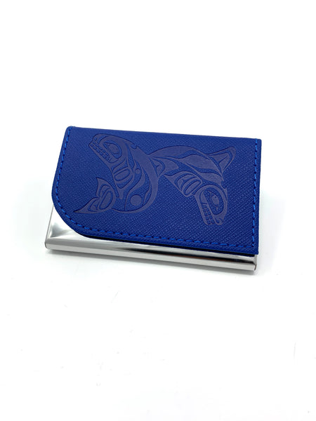 Blue Whales Card Holder