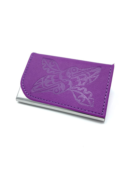 Hummingbird Purple Card Holder