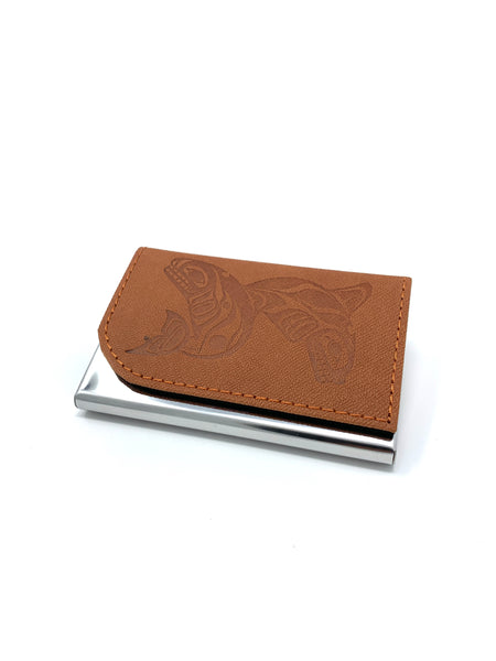 Whales Brown Card Holder