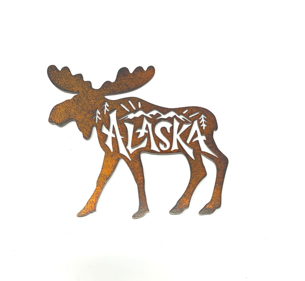Laser-Cut Moose Magnet