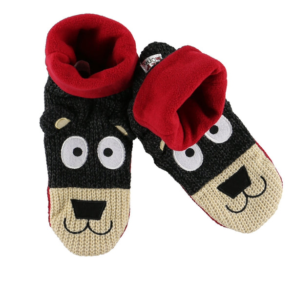 Kids Woodland Bear Slippers