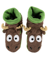 Kids Woodland Moose Slippers