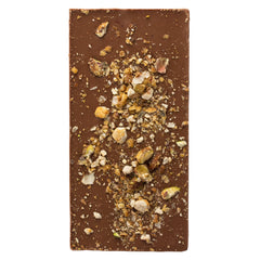 Caramelised Pistachio & Hazelnut Milk Chocolate Bar