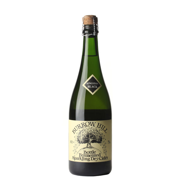Burrow Hill Kingston Black Sparkling Dry Cider bottle, Boozy Gift Curated by Craved