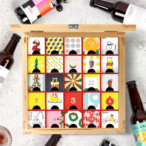 Beer Advent Calendar, craft beer christmas gift, gifts for him, beer gifts curated by craved