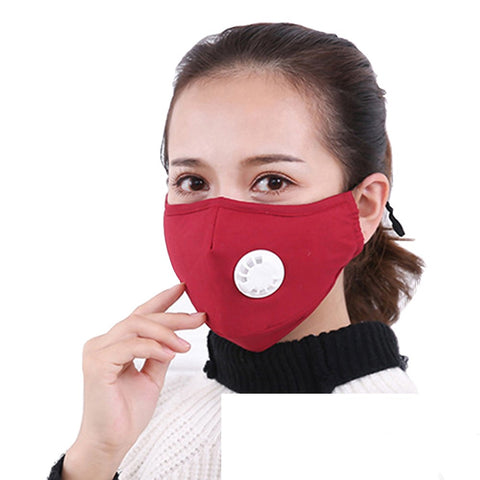 Adjustable Ear Strap Reusable Face Mask with Air Valve